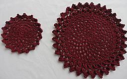Úžitkový textil - Handmade háčkované prestieranie - 11056945_