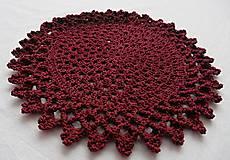 Úžitkový textil - Handmade háčkované prestieranie - 11056946_