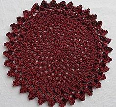 Úžitkový textil - Handmade háčkované prestieranie - 11056947_