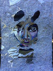 Obrazy - Akryl maľba/afro/alobal - 11056313_