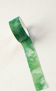 Papier - WASHI drobné akvarel zelenou - 11057595_