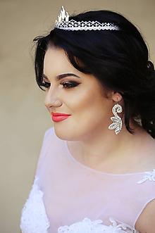 Ozdoby do vlasov - Svadobná korunka z krajky - 11057107_