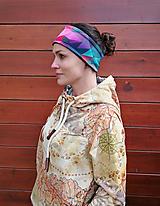 Ozdoby do vlasov - STONED RASPBERRY - termo čelenka - 11057007_