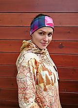 Ozdoby do vlasov - STONED RASPBERRY - termo čelenka - 11057008_