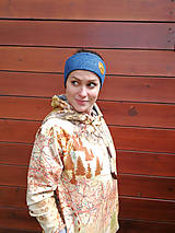 Ozdoby do vlasov - Blue fox - termo čelenka - 11057165_