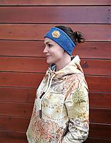 Ozdoby do vlasov - Blue fox - termo čelenka - 11057166_
