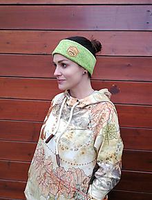 Ozdoby do vlasov - Neon greenpeas - termo čelenka - 11057151_