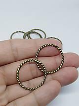 Komponenty - Kovové ozdobné krúžky - pár (Točené 26 mm) - 11057315_