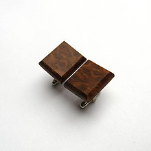 Šperky - Drevené manžetové gombíky - eukalyptové štvoruholníčky - 11057614_