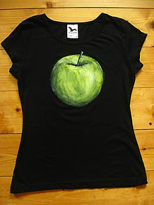 Tričká - Zelené jabĺčko - 11060407_