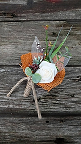 Pierka - Svadobné pierko pre ženícha Jeseň - 11059162_