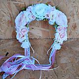 Kytice pre nevestu - Svadobná sada pastelová ružová, marhuľová - 11059383_