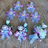 Kytice pre nevestu - Svadobná sada pastelová ružová, marhuľová - 11059480_