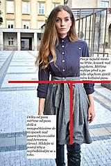 Sukne - Zavinovací sukně ANJA, šedý tvíd - 11059051_