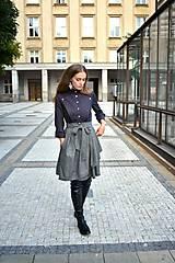 Sukne - Zavinovací sukně ANJA, šedý tvíd - 11059054_