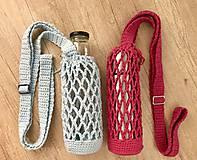 Iné tašky - Taška na fľašu s retro prackou - 11061145_