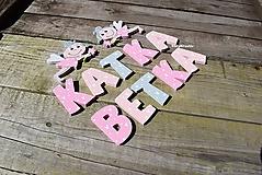 Tabuľky - ružové písmenká - 11060004_