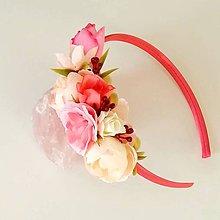 Detské doplnky - Kvetinová čelenka pre dievčatko - 11060391_