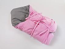 Textil - Zavinovačka sivo-ružová s troma úväzmi - 11060147_