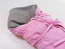 Textil - Zavinovačka sivo-ružová s troma úväzmi - 11060148_