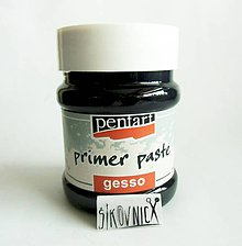 Farby-laky - Podkladová pasta, GESSO, primer, 230 ml, čierna - 11059217_