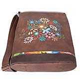 Veľké tašky - 1149 - květinkovaná - 11059155_