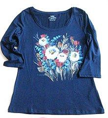 Tričká - Modré tričko - 11059132_