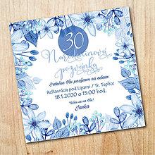 Papiernictvo - Narodeninová pozvánka - Zimné kvety - 11058726_