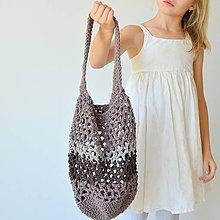 Kabelky - háčkovaná taška bavlnená - 11060530_