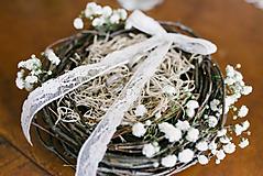 Prstene - Hniezdo na svadobné obrúčky - 11061002_