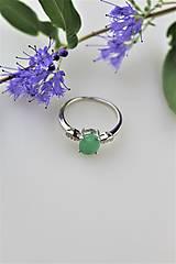 Prstene - prsteň smaragd - v striebre - 11060941_