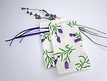 Úžitkový textil - Bavlnené vrecúška na levanduľu PRÁZDNE (Vzor 18.) - 11058607_