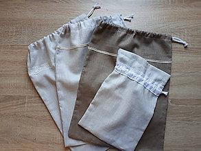 Úžitkový textil - Lanové vrecko (13x20 - Hnedá) - 11059087_