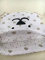Detské tašky - Batôžtek - bodkovaný medvedík - 11059091_