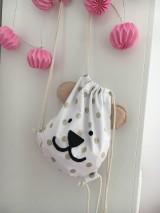Detské tašky - Batôžtek - bodkovaný medvedík - 11059148_