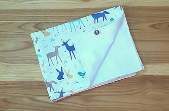 Detské doplnky - Prebaľovacia podložka - lesné zvieratká (Jersey 50x73 cm) - 11058976_