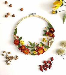 Dekorácie - Obraz vyšívaný kvetmi - 11061152_