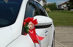 Iné doplnky - Výzdoba na svadobné auto PERY a MOTÝLIK - 11059330_