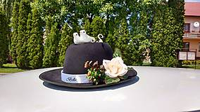 Iné doplnky - Výzdoba na svadobné auto PERY a MOTÝLIK - 11059345_