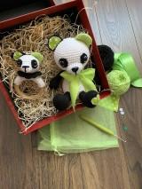 Hračky - Panda Srdiečko s hrkálkou - SET - 11058812_