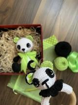 Hračky - Panda Srdiečko s hrkálkou - SET - 11058813_