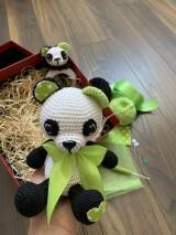 Hračky - Panda Srdiečko s hrkálkou - SET - 11058814_