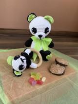 Hračky - Panda Srdiečko s hrkálkou - SET - 11058815_