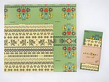 Pomôcky - Rožok + Bagetka (Kvety  + Čičmany) - 11061188_
