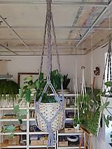 Dekorácie - Macrame držiak na kvetináč 73cm - 11059563_