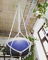 Dekorácie - Macrame držiak na kvetináč 180cm - 11060084_