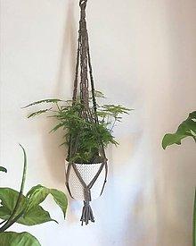 Dekorácie - Macrame držiak na kvetináč 85cm - 11059806_