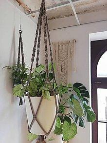 Dekorácie - Macrame držiak na kvetináč 86cm - 11060064_