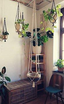 Dekorácie - Macrame držiak na kvetináč 180cm - 11060082_