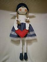 Dekorácie - Veľký anjelik dievčatko na zavesenie - 11058831_